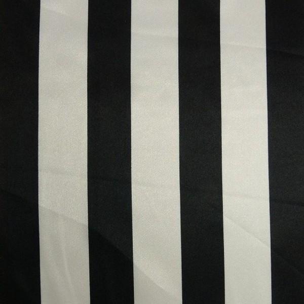 Satin STREIFEN weiß-schwarz