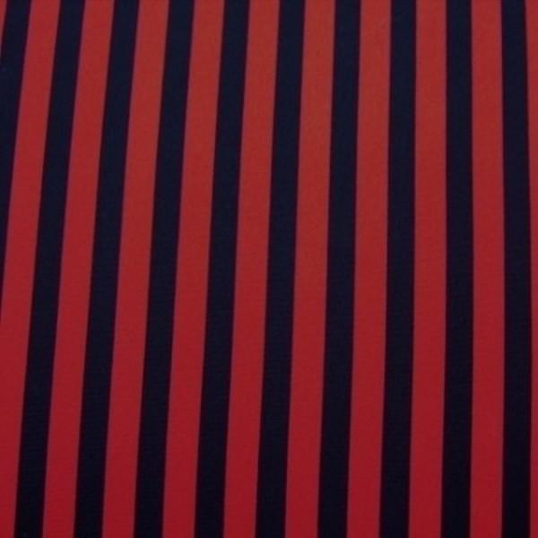 Stoff POWER Streifen rot-schwarz