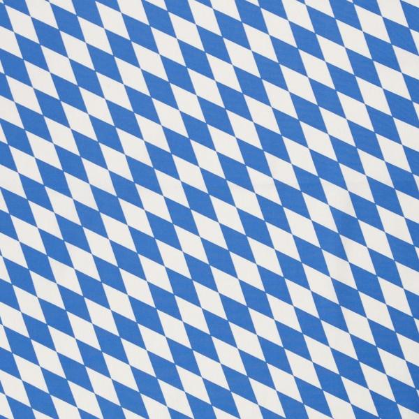 Baumwollstoff Bayernraute weiß-blau KLEIN
