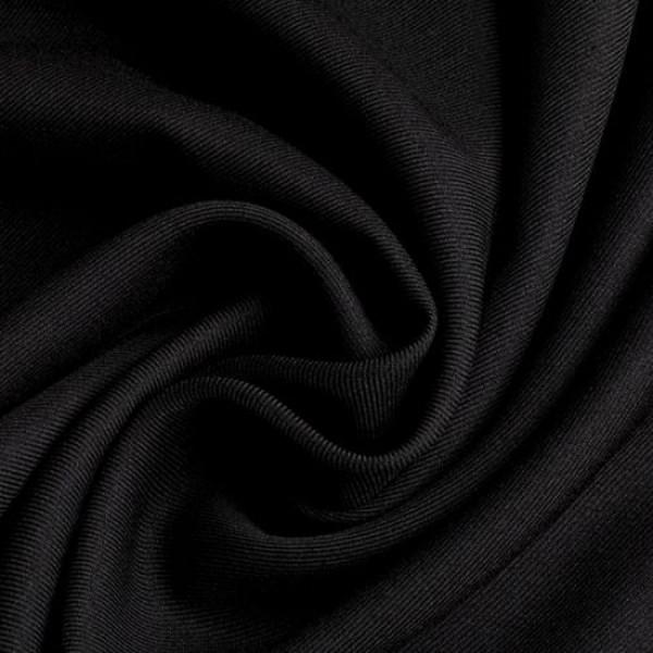 Gabardine Polyester schwarz