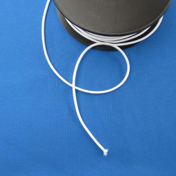 Rundgummi Gummischnur 3 mm weiß