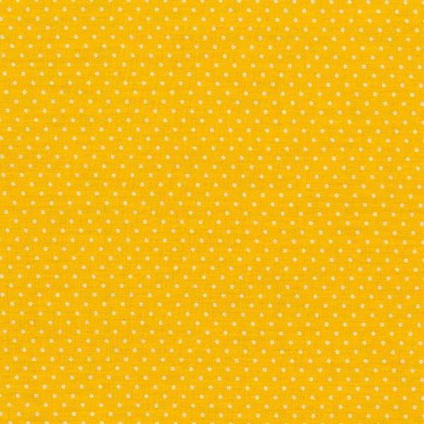 Baumwollstoff JUDITH Tupfen gelb-weiß 2 mm