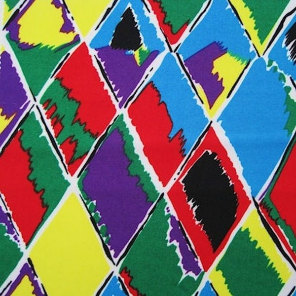 Stoff POWER Raute multicolor