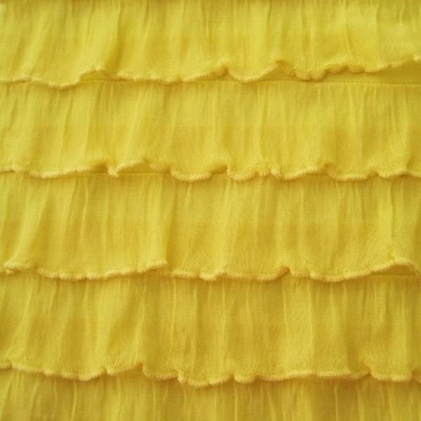 Rüschenstoff gelb