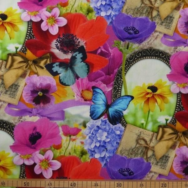 Dekostoff FRÜHLING Digitaldruck multicolor