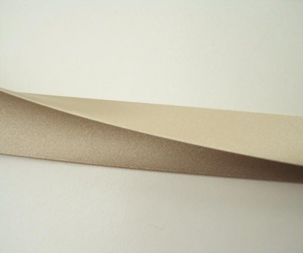 Satin-Schrägband 80/40/20 beige