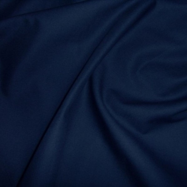 Baumwollstoff uni HEIDE dunkelblau