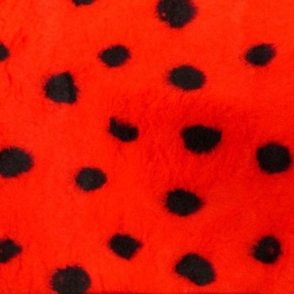 Plüsch ANIMAL Punkte rot-schwarz