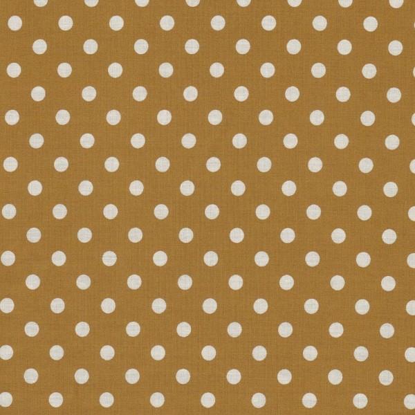 Baumwollstoff JUDITH Tupfen beige-weiß 7 mm