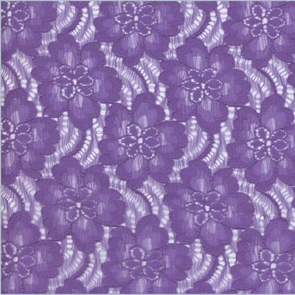 Spitzenstoff FLEUR lila