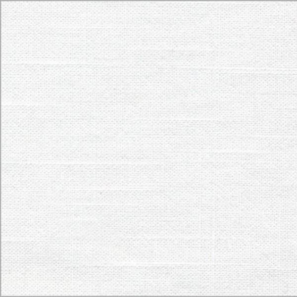 Bekleidungsstoff LEINENOPTIK weiß