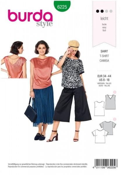 Burda Schnitt Bluse – Shirt – Top – gerade Form 6225