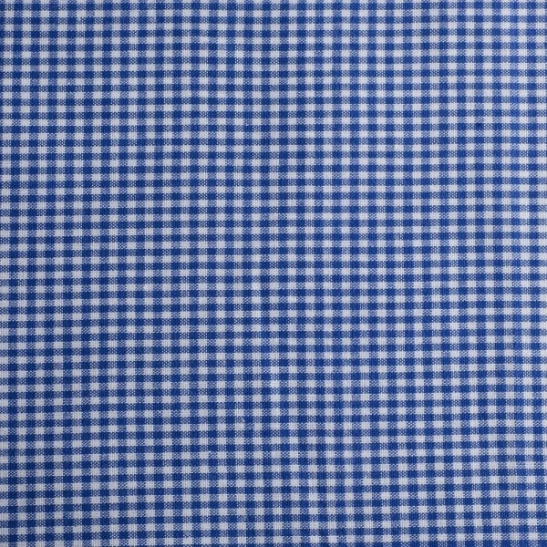 Baumwollstoff Zefir Karo 02 blau