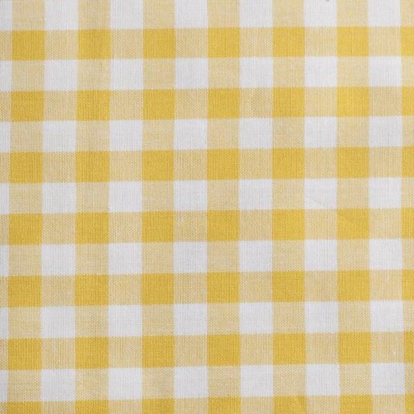 Baumwollstoff Zefir Karo 10 gelb