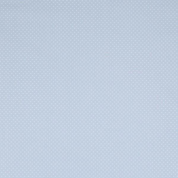 Baumwollstoff JUDITH Tupfen hellblau-weiß 2 mm