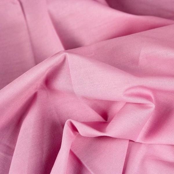Baumwollstoff uni HEIDE rosa