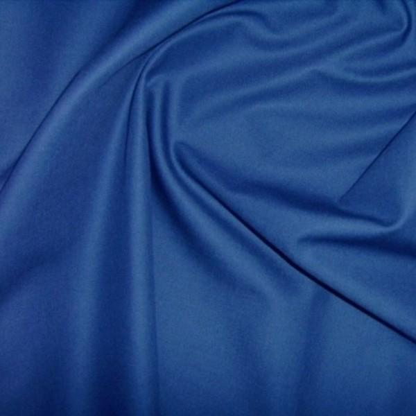 Baumwollstoff uni HEIDE royalblau