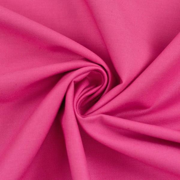Baumwollstoff uni HEIDE pink