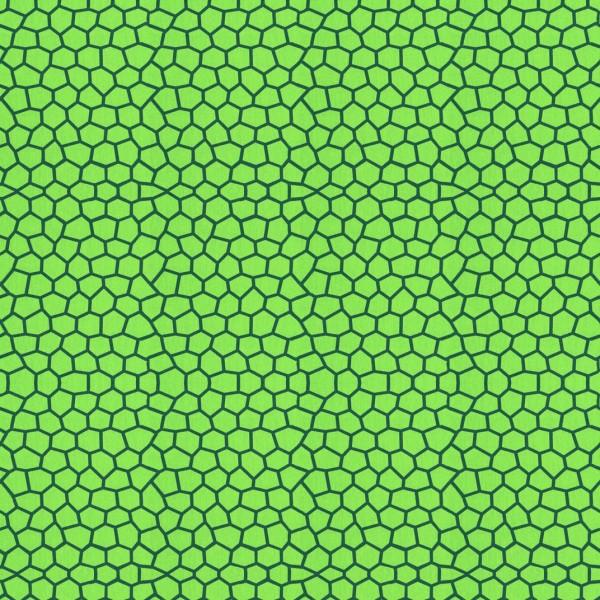 Baumwollstoff KIM grün Mosaik
