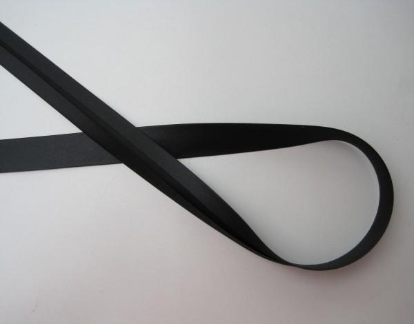 Satin-Schrägband 40/20 schwarz