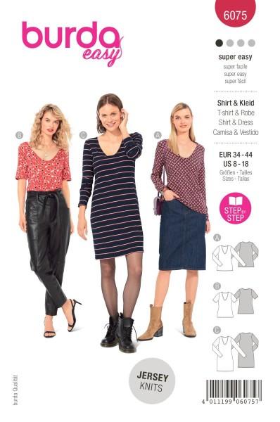 Burda Schnitt 6075 Shirt und Kleid