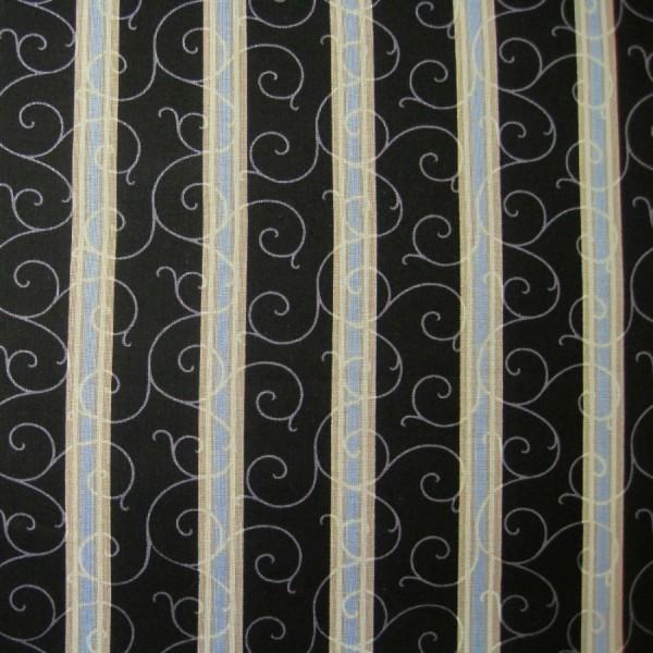 Patchworkstoff Shades of Grey Streifen schwarz