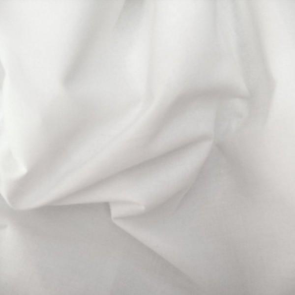 Baumwollstoff Nessel vorgewaschen weiß 160