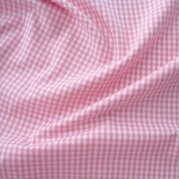 Batist VICHY-KARO 03 rosa-weiß