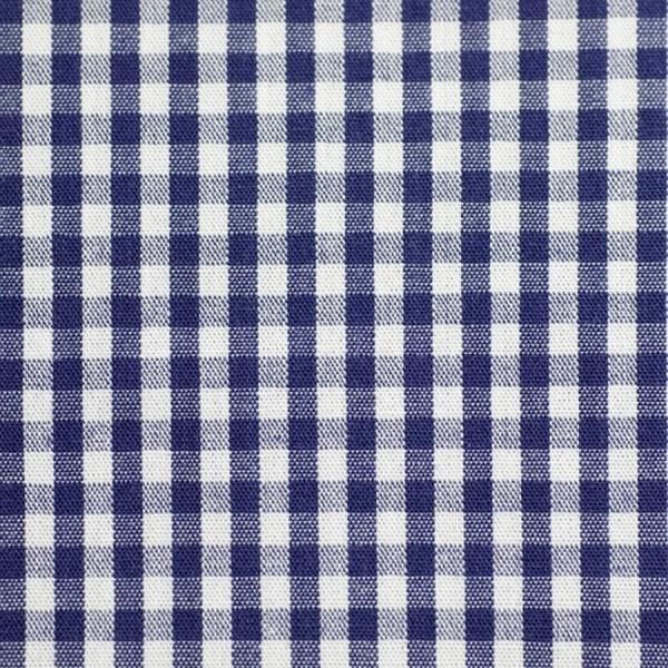 Batist VICHY-KARO 03 dunkelblau-weiß