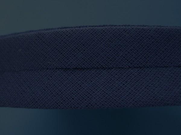Schrägband Baumwolle 40/20 mm dunkelblau