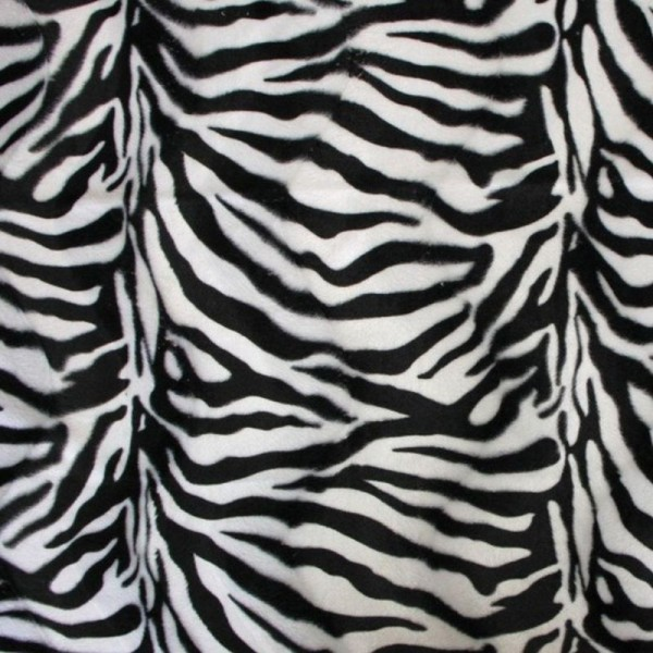 Kunstfell Fellimitat ALEX Zebra schwarz-weiß