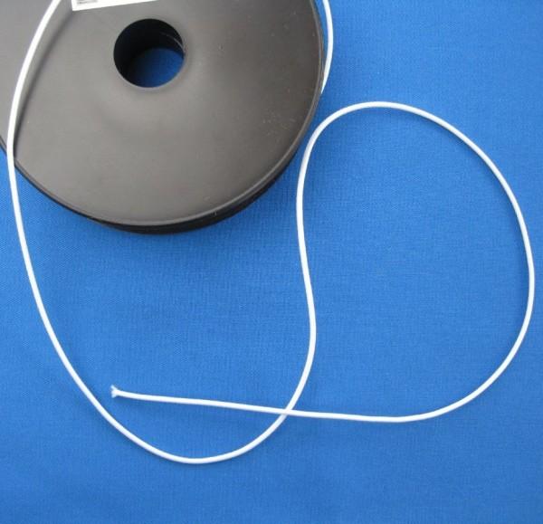 Rundgummi Gummischnur 2 mm weiß