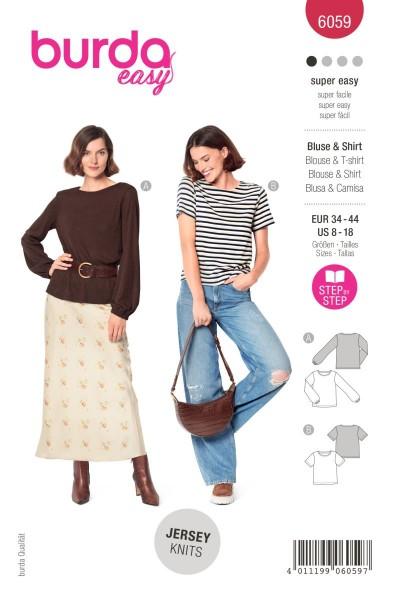 Burda Schnitt 6059 Bluse und Shirt