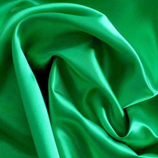 Rest Kettsatin Polyester-Baumwolle grün 0,7 Meter