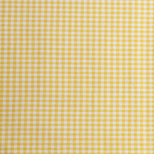 Baumwollstoff Zefir Karo 02 gelb