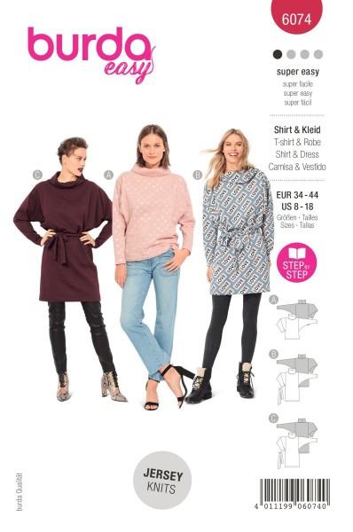 Burda Schnitt 6074 Shirt und Kleid