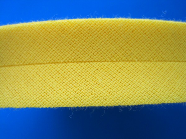 Schrägband Baumwolle 40/20 mm gelb
