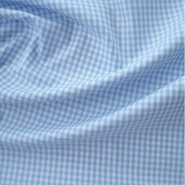 Batist VICHY-KARO 03 hellblau-weiß