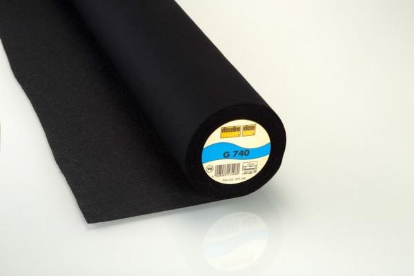 Vlieseline Gewebeeinlage aufbügelbar G740 schwarz