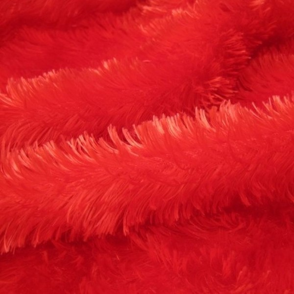 Karnevalsstoff Kunstfell rot
