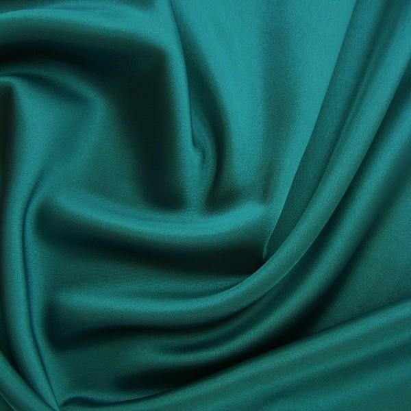 Rest Stretchsatin CHRISTIN blauer Zirkonia 2,0 Meter