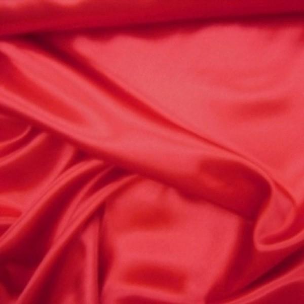 Rest Stretchsatin HANNA rot 1,0 Meter