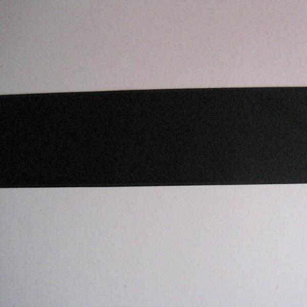 Satinband double-face schwarz