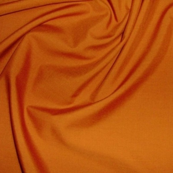 Baumwollstoff uni HEIDE orange