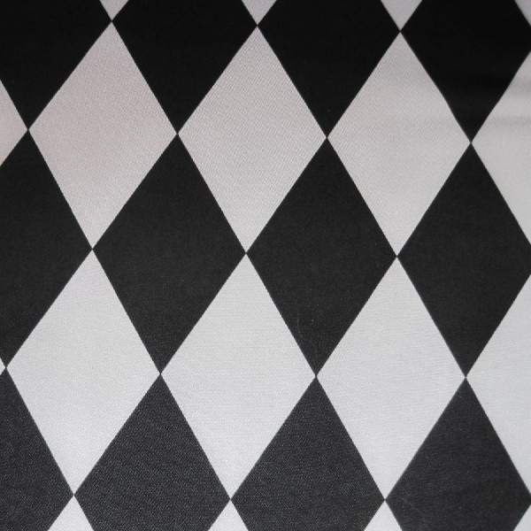 Satin Raute schwarz-weiß