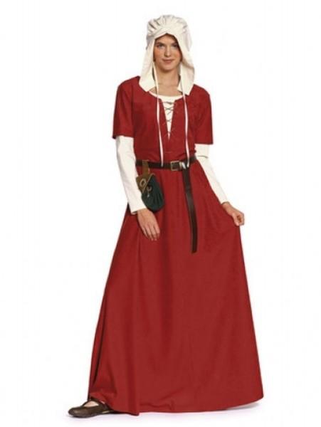 burda Schnitt Kleid & Haube Mittelalter 7468