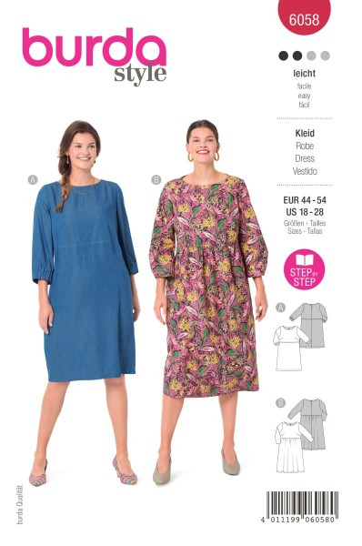 Burda Schnitt 6058 Kleid