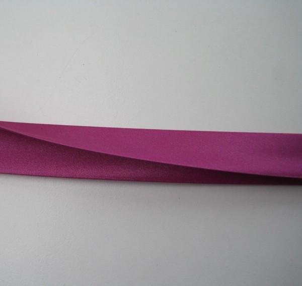 Satin-Schrägband 80/40/20 fuchsia
