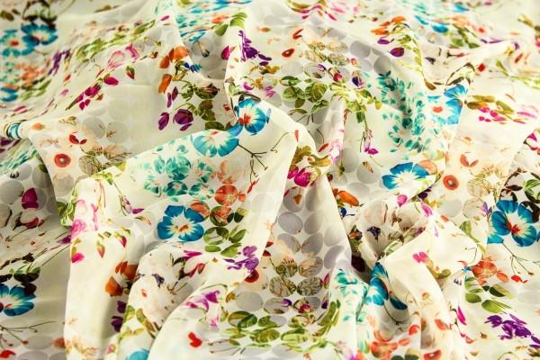 Chiffon natur-grau-multicolor
