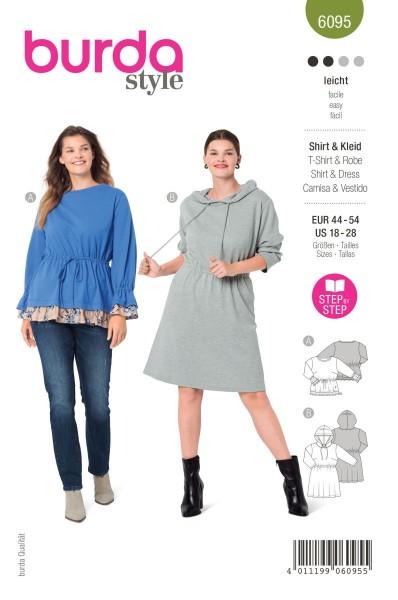 Burda Schnitt 6095 Shirt und Kleid